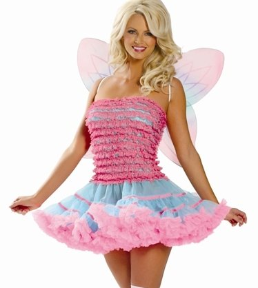 Roma Sexy and Super Adult Rainbow Sprite Pink Butterfly Fairy Costume