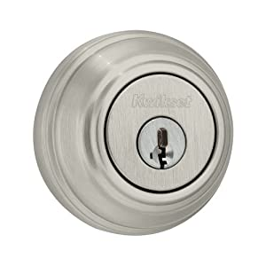 Kwikset 980 Single Cylinder Deadbolt featuring SmartKey® in Satin Nickel