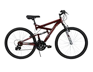 Huffy Bicycle Company Mens Dual Suspension DS-3 Bike, Dark Metallic Red, 26-Inch by Huffy