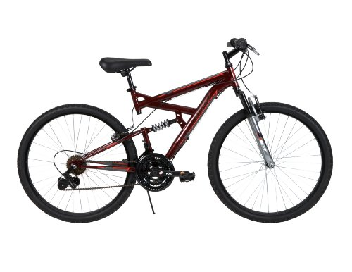 Great Deal! Huffy Bicycle Company Men's Dual Suspension DS-3 Bike, Dark Metallic Red, 26-Inch