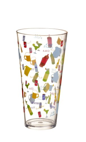 "Grasslands Road 6-Pack ""Cold Drinks"" Acrylic Tumbler, 24-Ounce"