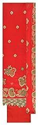 Fashion Hut Women's Cotton Unstitched Dress Material (Red)