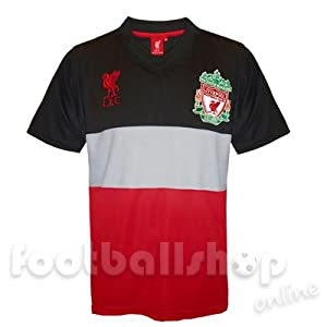 Liverpool FC Boys Poly Panel Training Kit T-Shirt Carbon 10-11 Years by Liverpool
