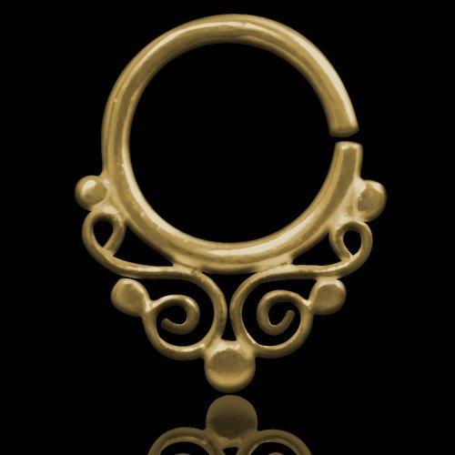 Septum Piercing Orientale da Setto Nasale in Argento Septum Ring Indian Ornamental Silver Gold 5