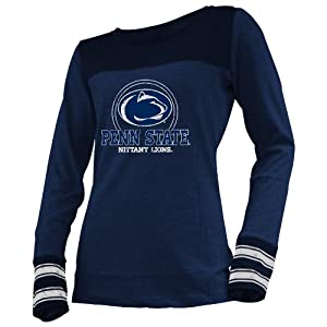 NCAA Penn State Nittany Lions Ladies Striped Long Sleeve Tee by Ouray Sportswear