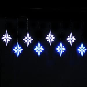X 40cm north star window curtain net lights string for Window net lights