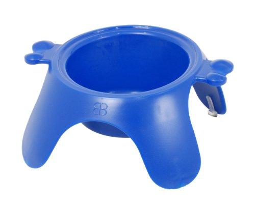 Petego Yoga Raised Pet Bowl, Small, Blue