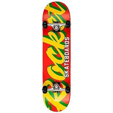 Rocket Pro Script Red/Yellow 7.75-inch Skateboard completo