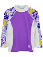 Tuga Girls UPF 50+ Shoreline Long Sleeve Rashguard (UV Sun Protective)