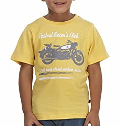 Trmpi Yellow T-Shirt for Boys (2-10 Yrs)