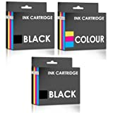 Set of 3 Remanufactured High Yield Ink Cartridges for HP 15 & 78 Series - ONE SET PLUS ONE BLACK