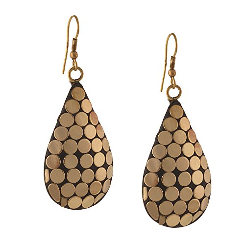 Zephyrr Fashion Handmade Lightweight Tibetan Hook dangler Earrings for Women  available at amazon for Rs.149