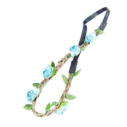 Butterme-Damen-Mdchen-Rose-Blumen-Stirnband-Hochzeit-Haarkranz-Blumenkrone-Festival-Hochzeit-Haarband-Kopfband-Haarkranz-BOHO-Blumenstirnband