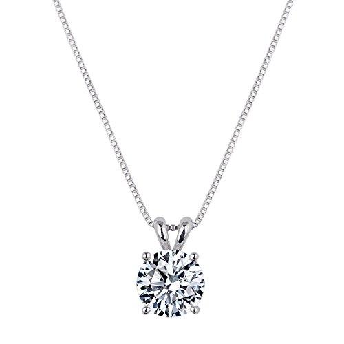 [ジュエリーキャッスル] Jewelry Castle ネックレス 1.2カラット ブリリアント CZダイヤモンド ( キュービックジルコニア ) シルバー925 プラチナ仕上げ シルバー