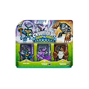 Skylanders SWAP Force Triple Character Pack: Dune Bg, Phantom Cynder, Knockout Terrafin