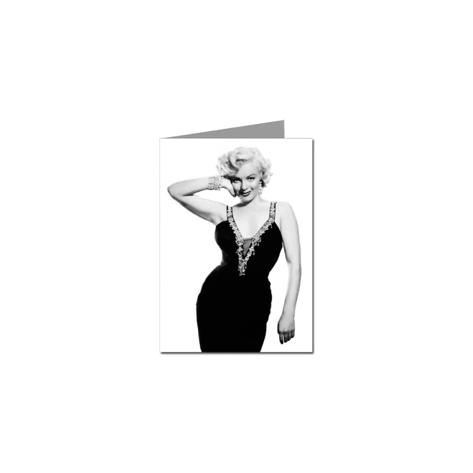 Marilyn Monroe wearing an LBD Little Black Dress Six 5x7 Greeting Card Set