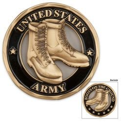 Army Boots On The Ground Coin