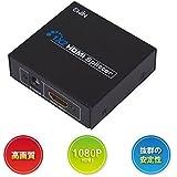 【Ewin】1入力2出力HDMI分配器/スプリッター 2台のHDMI搭載機器に出力可能 フルハイビジョン 1X2 HDMI Splitter Ver1.3/1080p対応【日本語説明書つき、一年の安心保証】