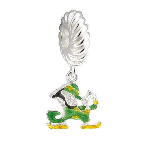 Notre Dame Charm Leprechaun Sterling Silver & Enamel