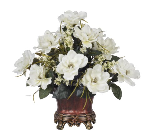 Artificial White Magnolia Centerpiece