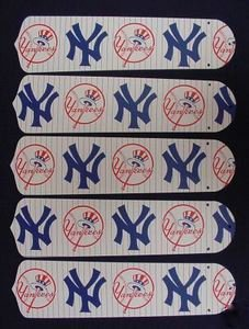 Ceiling Fan Designers 52SET-MLB-NYY MLB York Yankees Baseball 52 In. Ceiling Fan Blades Only at Amazon.com