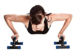 Perfect Life Ideas Push Up Bars Home Exercise Equipment Handles for Pushups with Colored Foam Padded Grips. Various Colors. 1 Pair.