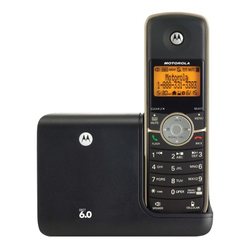 Motorola L511BT DECT 6 Cordless Phone with Digital Answering System and Bluetooth