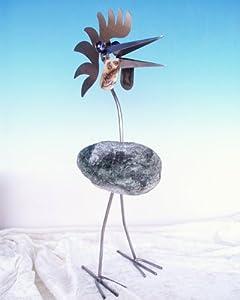 hans peter stehend der gelassene steinvogel bzw edelstahlvogel aus edelstahl und stein ein. Black Bedroom Furniture Sets. Home Design Ideas