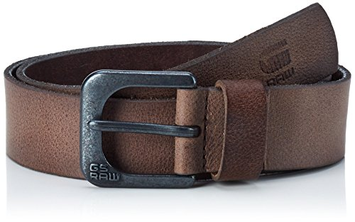 G-Star Raw Zed Belt, Cintura Uomo, Braun (Strato/Black Metal 6355), S (taglia Produttore: S)