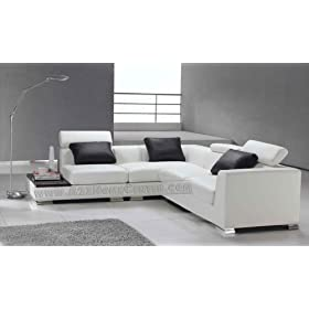 Ultra Modern Pillows : Furniture Trend: Elegant Contemporary Ultra Modern Style, White Leather Sectional Sofa with 3 ...