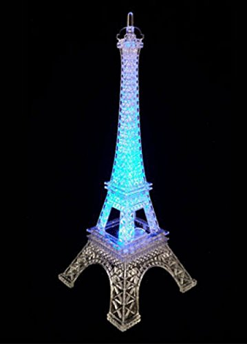 """10 """" Eiffel Tower Centerpiece with LED Light"""