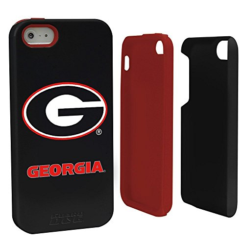 NCAA Georgia Bulldogs Hybrid Case for iPhone 5/5s, Black, One Size (Bulldog Iphone 5s compare prices)