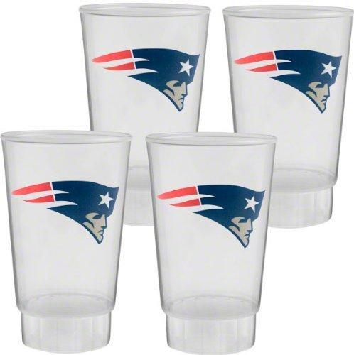 NFL New England Patriots 16oz Plastic Tumbler Set (New England Patriots Party Ware compare prices)