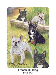 Best Friends Playing Cards, by Ruth Maystead - French Bulldog - 1