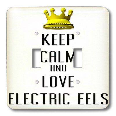 Lsp_121040_2 Blonde Designs Gold Crown For Keep Calm Love Animals - Gold Crown Keep Calm And Love Electric Eels - Light Switch Covers - Double Toggle Switch