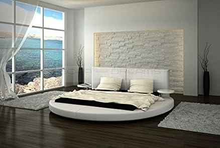 Designer letto rotondo in Roma letto imbottito, in diverse misure e colori