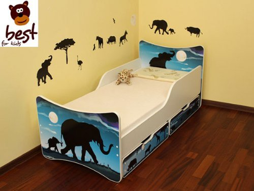 BEST FOR KIDS LIT POUR ENFANT 90x200 AVEC 2 TIROIR AFRIKA