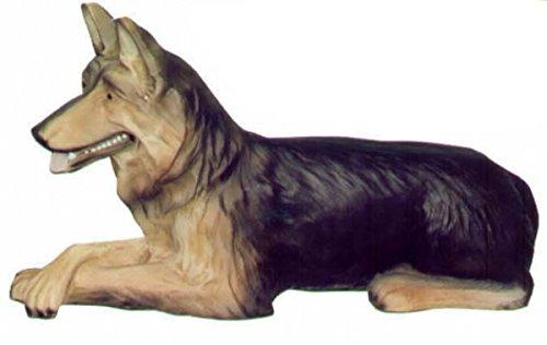 Lebensgroße Figuren Shop Schäferhund liegt, Lebensgroß - Tierfiguren - HU085
