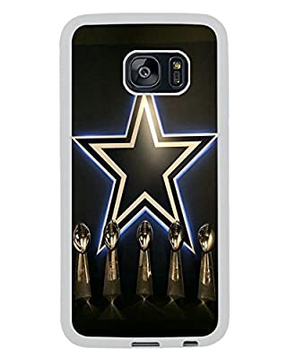 Cowboys Logo White Shell Cover For Samung Galaxy S7 Edge,Newest Design