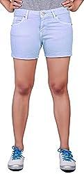 Klorophyl Women Aquamarine Blue Shorts