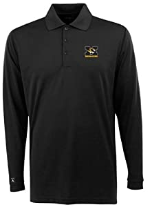 Missouri Long Sleeve Polo Shirt (Team Color) by Antigua