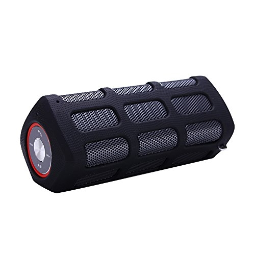 Kinglake New Outdoor Hi-Fi Wireless Portable Bluetooth Speaker Built In Speakerphone And 7200Mah Rechargeable Battery (Black)
