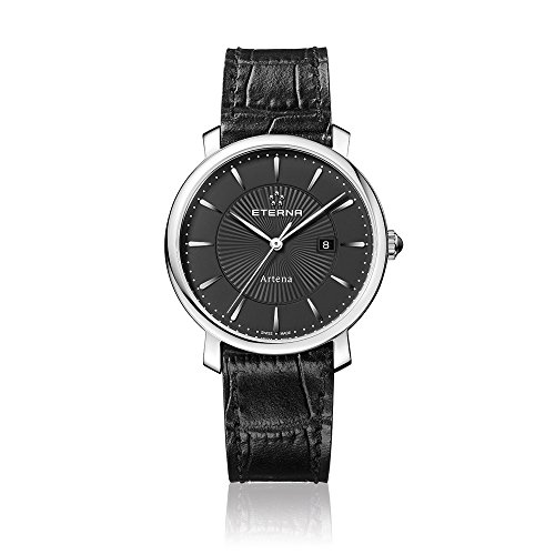 Eterna 2510.41.41.1251 - Reloj de pulsera mujer, piel, color negro