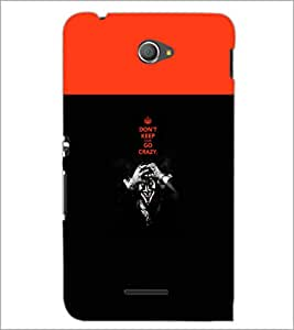 PrintDhaba Quote D-5745 Back Case Cover for SONY XPERIA E4 (Multi-Coloured)