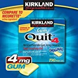 Kirkland Signature Quit4 4 mg. Gum, 2 x 190 Pieces