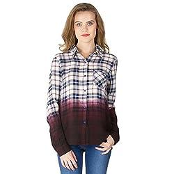 Instict Women's Cotton Shirts (1604501_S, Multi-Coloured, Small)