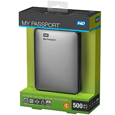 WD My Passport 500GB Portable External Hard Drive Storage USB 3.0 Silver (WDBKXH5000ASL-NESN)