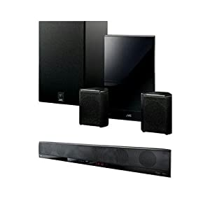 JVC Home THBA3 280W 5.1-Inch Surround Sound System with Bar Speaker, Wireless Subwoofer and Rear Wireless Kit