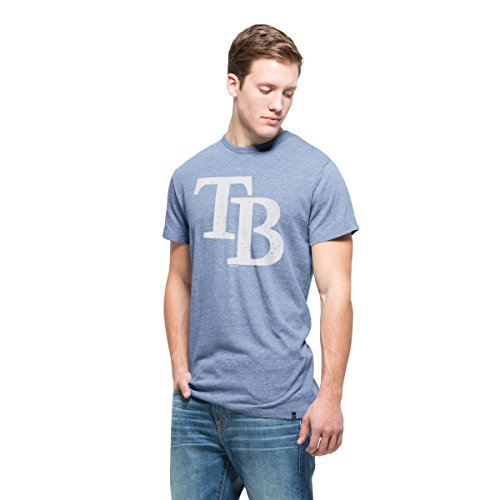 MLB Tampa Bay Rays Men's '47 Tri-State Tee, X-Large, Olympic Blue