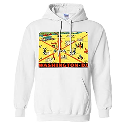 Vintage State Sticker Washington D.C. Sweatshirt Hoodie
